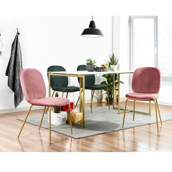 Silver Orchid Walch 5-Piece Gold Dining Set