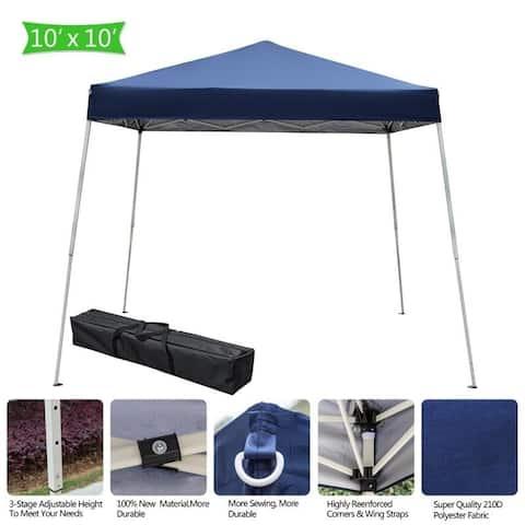 3 X 3M Camping Beach Gazebo Party Folding Canopy Tent Blue/White