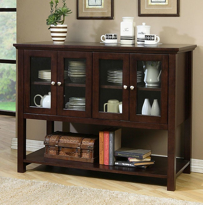 Beckett Dark Walnut Buffet Free Shipping Today Overstock com 80001030