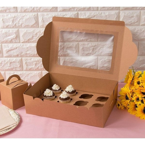 1 X Dozen Blue Cupcake Boxes