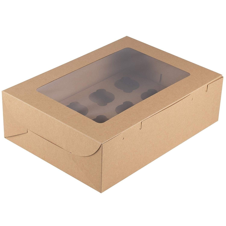12 cavities 6 ct. 1 Dozen Cupcake Container