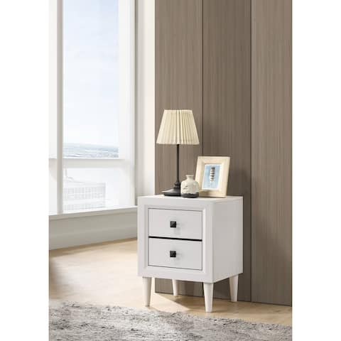 ACME Oaklee Night Table in White