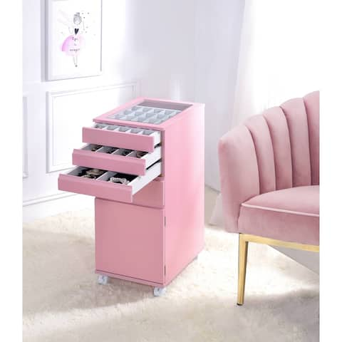 ACME Nariah Jewelry Armoire in Pink