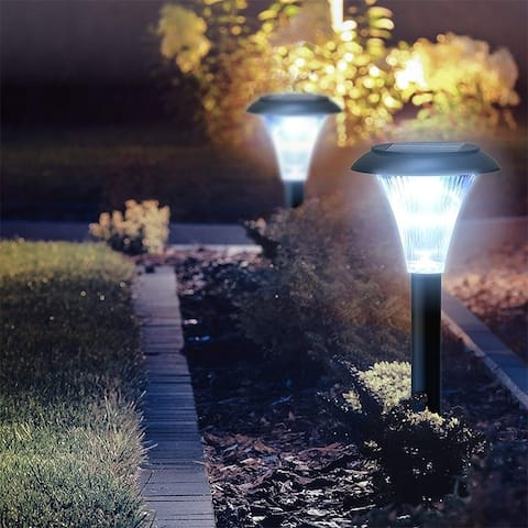 6 Pcs Garden Solar Lights LED Outdoor Pathway Night Light for Walkway Patio Path Lawn Garden Yard Decor Waterproof - 14 * 4 inch
