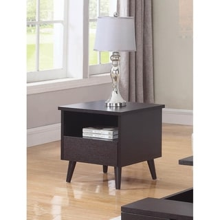Clarey Red Cocoa Rectangle End Table