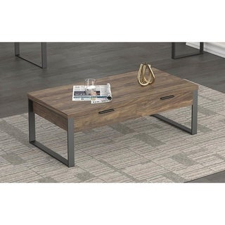 Sona Aged Walnut Rectangle Coffee Table