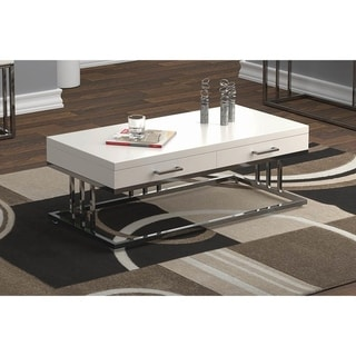 Darby Glossy White Rectangle Coffee Table