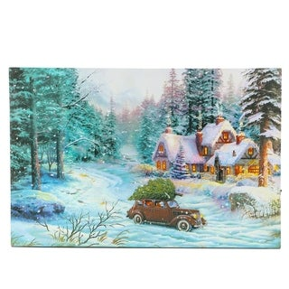 Link to Winter Wonderland Thru the Woods Car Print with LED Lights Similar Items in Christmas Decorations