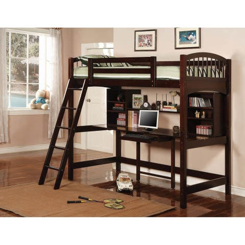 Rollent Cappuccino Twin Workstation Loft Bed