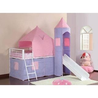 Marsten Periwinkle Twin Princess Castle Tent Loft Bed