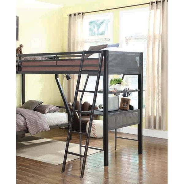 Fresno Black and Gunmetal Twin Loft Add-on. Opens flyout.