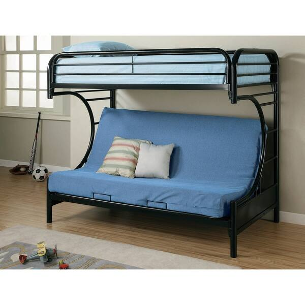Pleasing Kenston Twin Futon Bunk Bed With Wave Inspired Frame Gamerscity Chair Design For Home Gamerscityorg