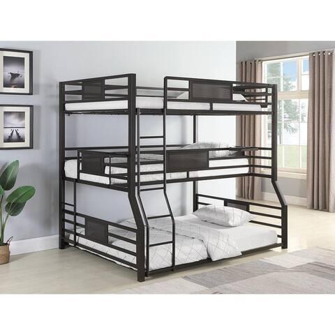 Alisso Black Triple Full/Twin XL/Queen Bunk Bed