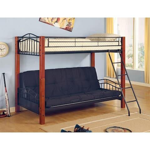 Abington Cinnamon and Black Twin Bunk Bed