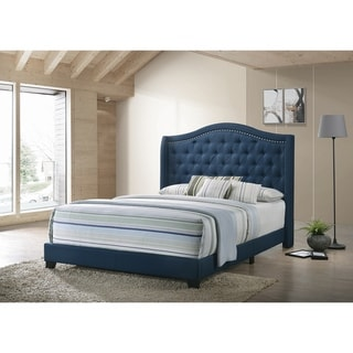 Copper Grove Maassluis Camelback Demi-wing Tufted Upholstered Bed