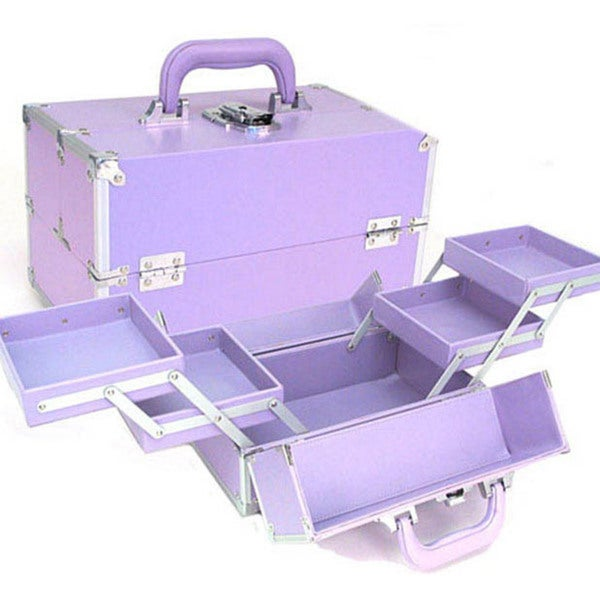 Seya Purple Makeup Train Case