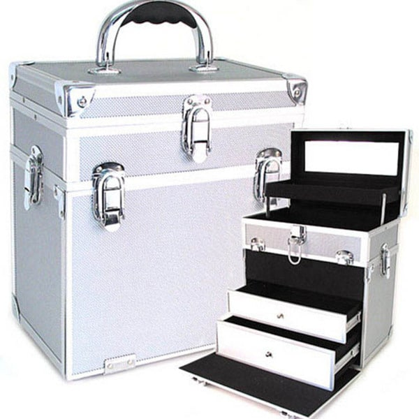 Shop Seya Silver Two In One Cosmetic Case With Drawers