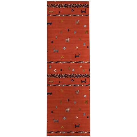 KEELUT GABBEH RED Area Rug by Kavka Designs