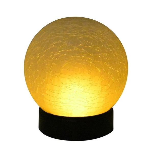Porch & Den Fanno Crackle Globe with Flame Effect Battery Operated Light