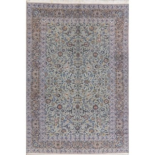 """Kashan Traditional Hand Knotted Oriental Border Wool Persian Area Rug - 12'2"""" x 8'4"""""""