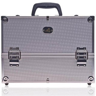 Shany Silver Aluminum Makeup Case