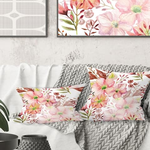 Buy Floral Mid Century Modern Throw Pillows Online At Overstock Our Best Decorative Accessories Deals