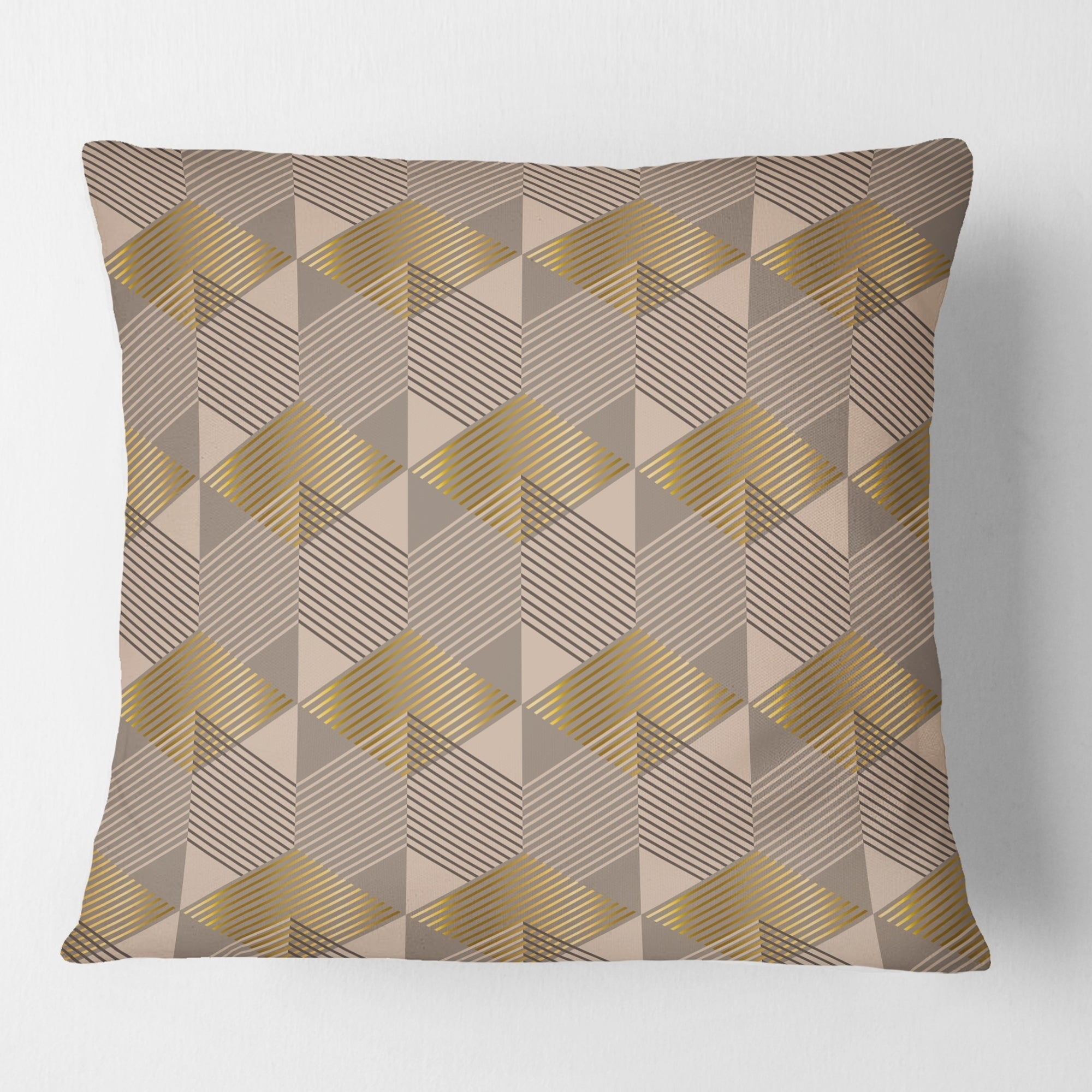 Designart Retro Square Design Vi Mid Century Modern Throw Pillow Overstock 29063900