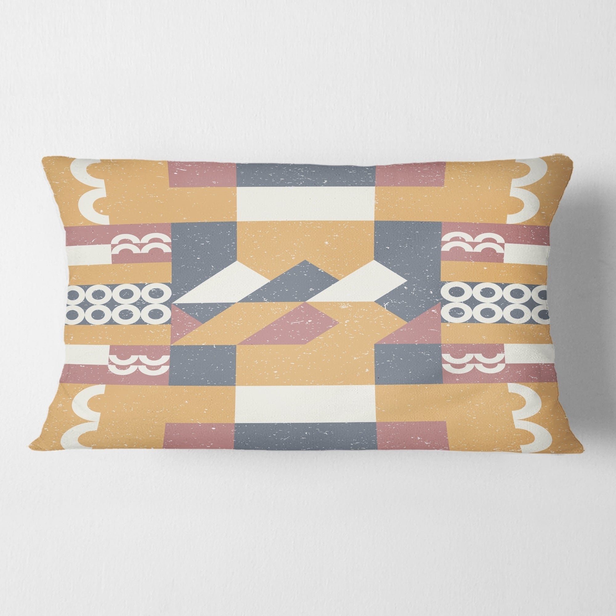 Designart Retro Geometric Design Vi Mid Century Modern Throw Pillow Overstock 29063963