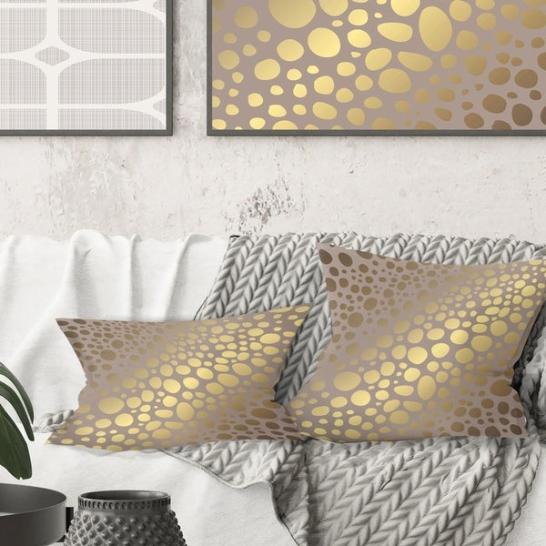Designart 'Golden Marble Design III' Mid-Century Modern Throw Pillow. Opens flyout.