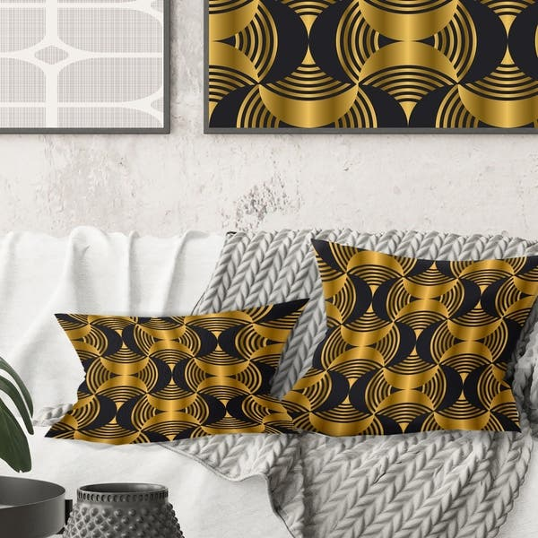 Magnificent Designart Art Deco Style Modern Pattern Mid Century Modern Throw Pillow Inzonedesignstudio Interior Chair Design Inzonedesignstudiocom