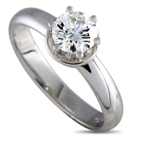 Damiani Queen White Gold Diamond Engagement Ring