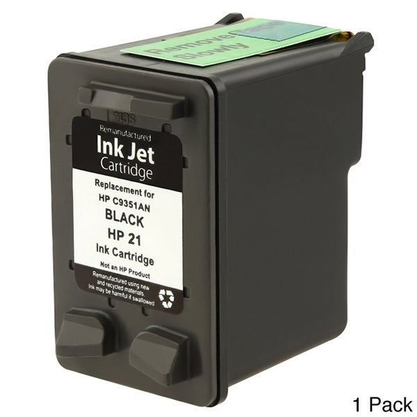INSTEN HP 21 Black Ink Cartridge (Remanufactured)
