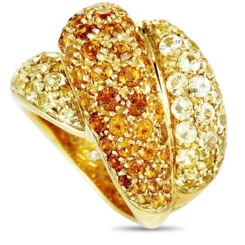 Damiani Gomitolo Yellow Gold Yellow Sapphire and Citrine Ring
