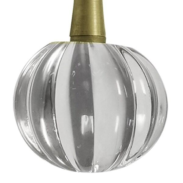 Set of 2 Acrylic Crystal Pumpkin Ceiling Lighting Fan Pull