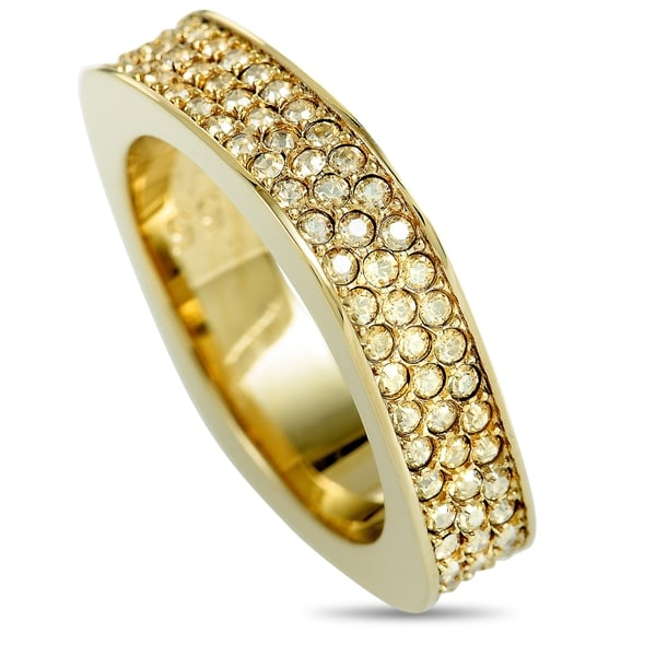 Swarovski Vio Gold-Plated Crystal Pave Ring
