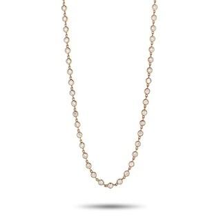 LB Exclusive Rose Gold Round Diamonds Sautoir Necklace