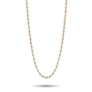 LB Exclusive Rose Gold And Round Diamonds Sautoir Necklace