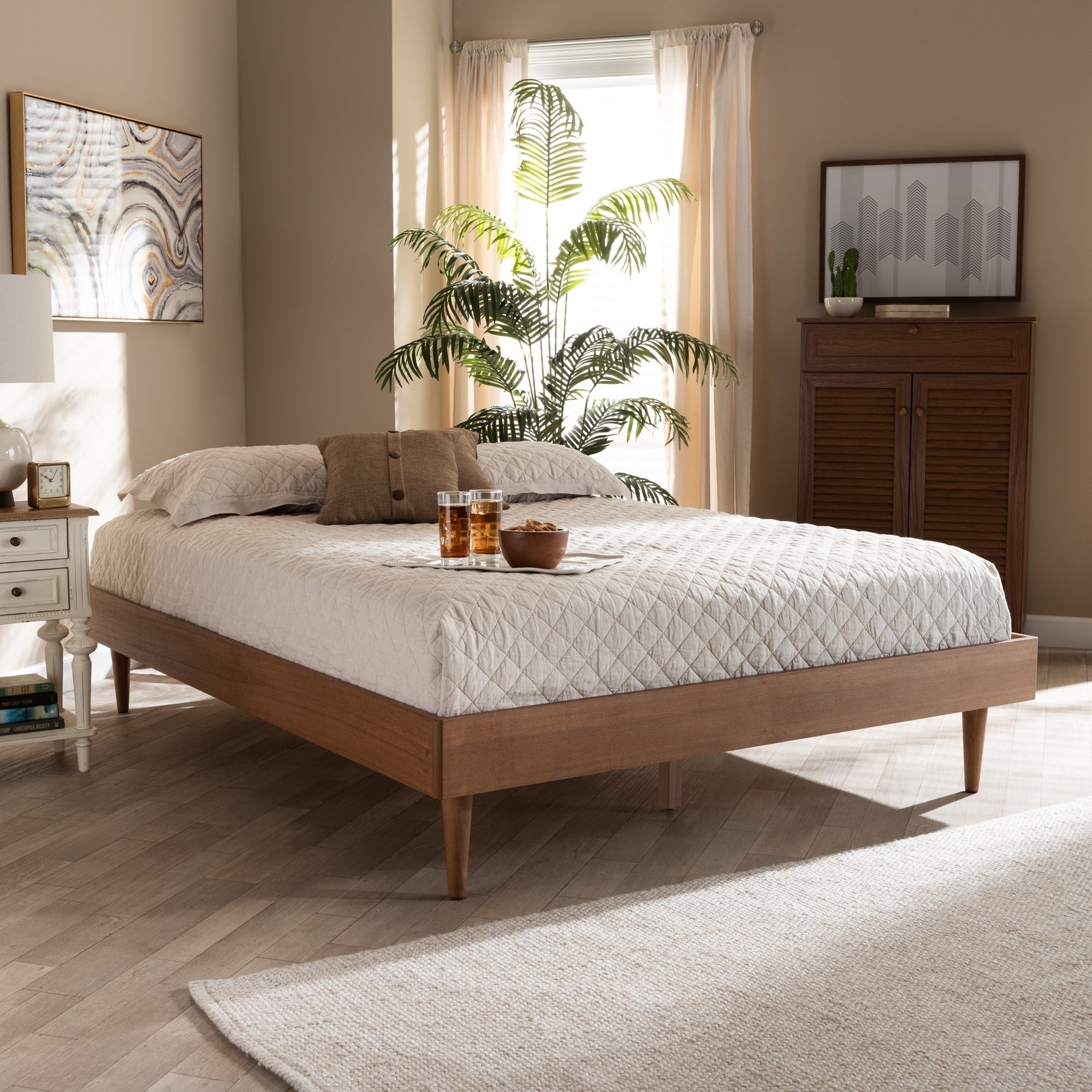 Shop Black Friday Deals On Carson Carrington Banga Mid Century Modern Wood Bed Frame Overstock 29065431