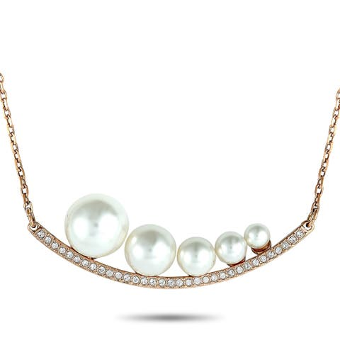 Swarovski Fundamental Crystal and Crystal Pearl Necklace