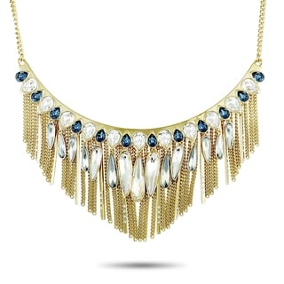 Swarovski Gipsy Yellow Gold Plated Crystal Necklace
