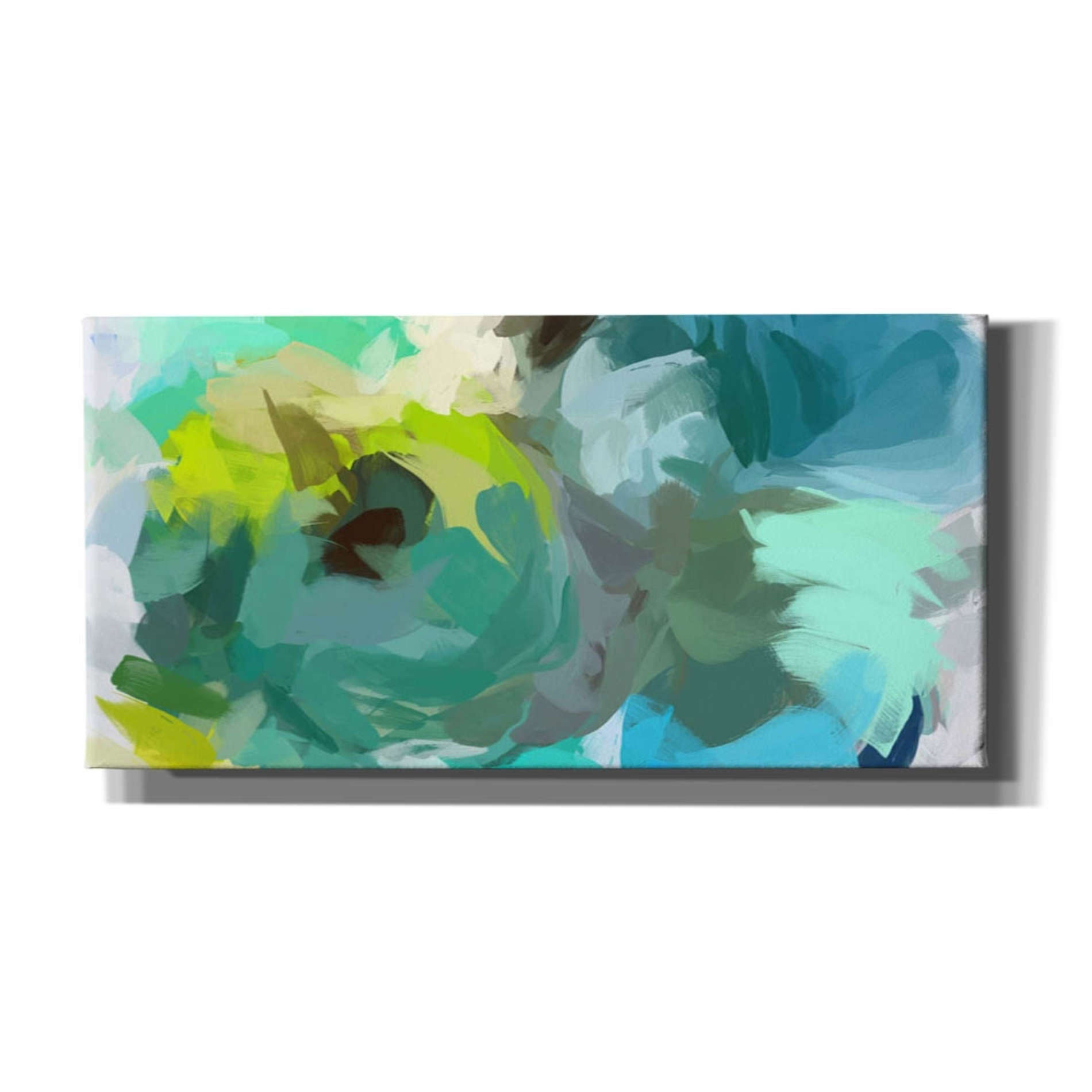 Epic Graffiti The Shades Of Green Abstract 2 By Irena Orlov Giclee Canvas Wall Art 24 X12 Overstock 29065501
