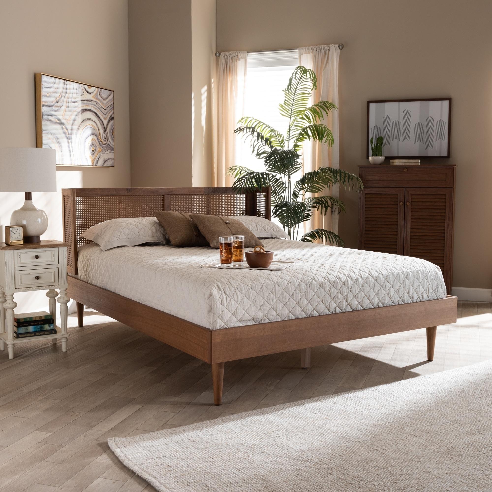 Gold Glass Dining Table, Shop Black Friday Deals On Carson Carrington Dagas Mid Century Modern Platform Bed Overstock 29065808 Full