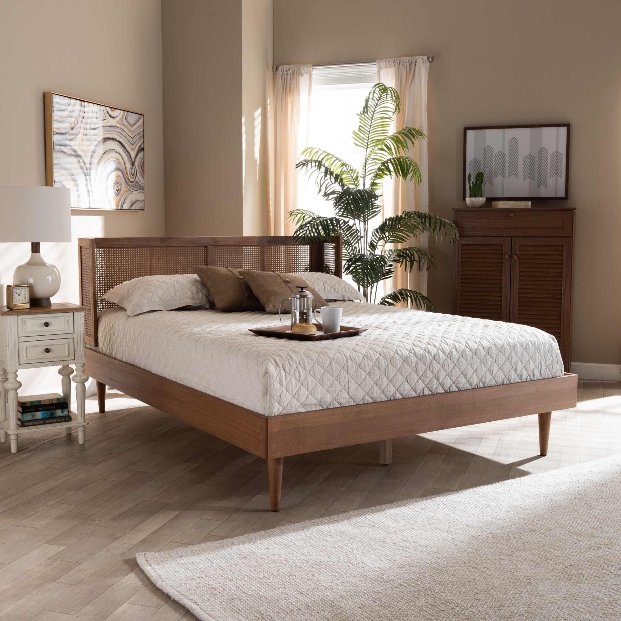 Picture of: Carson Carrington Dagas Mid Century Modern Platform Bed Overstock 29065808 King