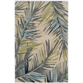 Porch & Den Hand-tufted Wool Tropical Area Rug