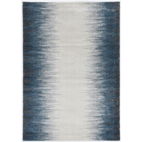 Strick & Bolton Contemporary Ombre Blue/ Ivory Area Rug