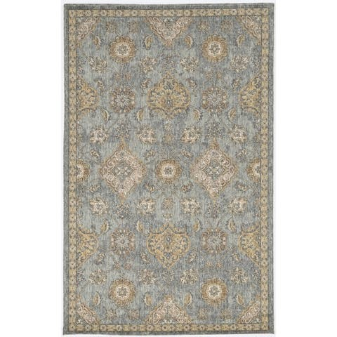 Copper Grove Wool Distressed Traditional Ivory Area Rug
