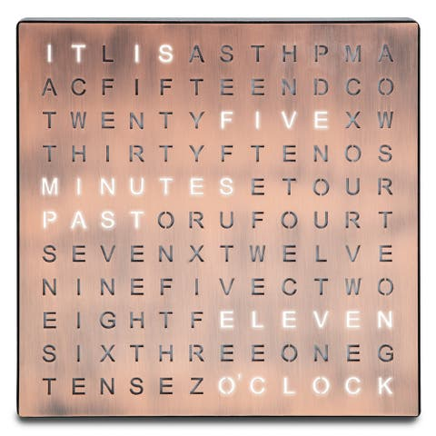 "Table Top Word Clock LED - 7.75"" x 1.13"" x 7.75"""
