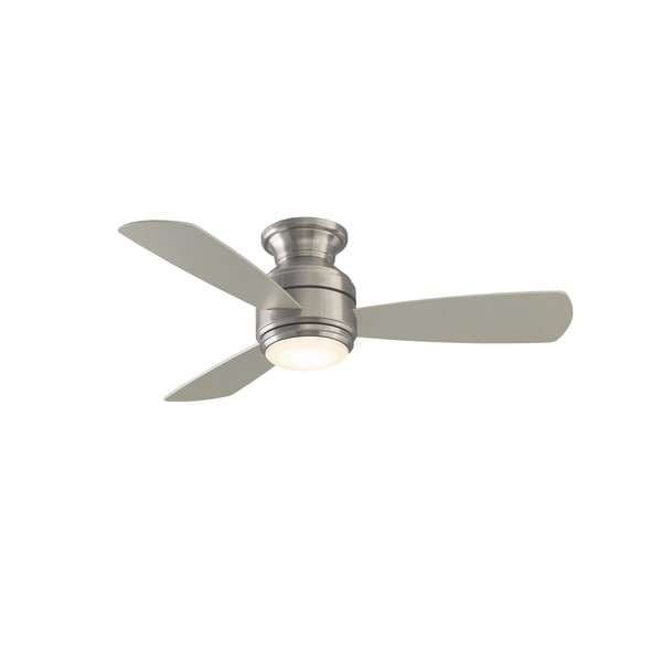 Level - 44 inch - Brushed Nickel with Gray Blades and LED. Opens flyout.