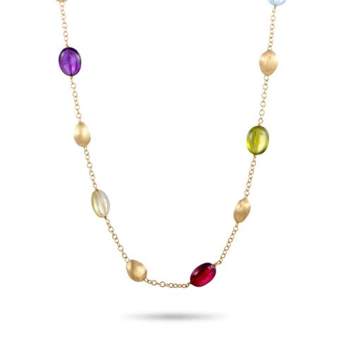 Marco Bicego Yellow Gold and Multiple Gemstone Necklace