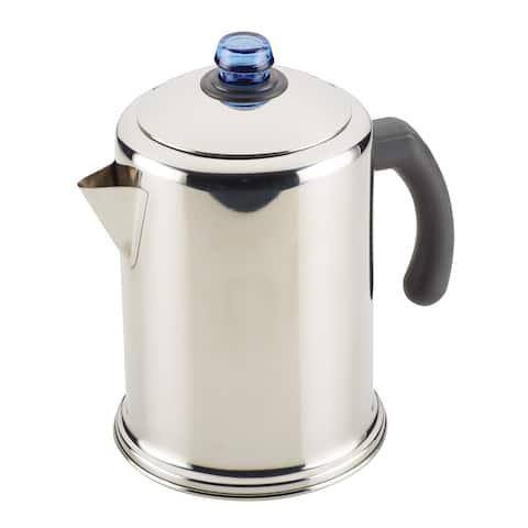 Farberware Classic Stainless Steel Coffee Percolator, 12-Cup